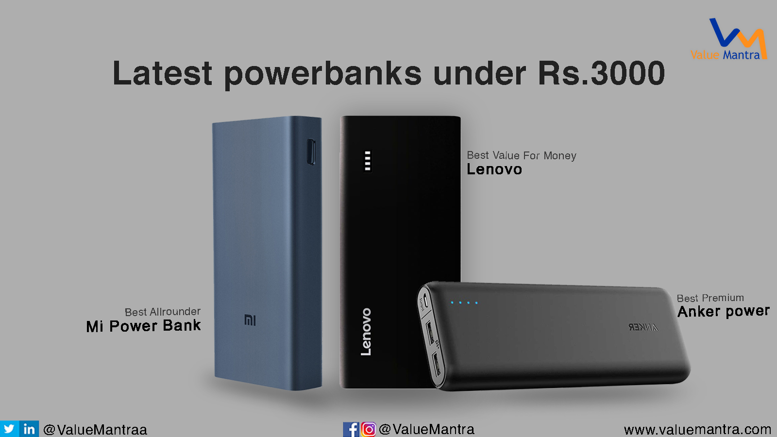 Best power banks – under 3000 (2021)
