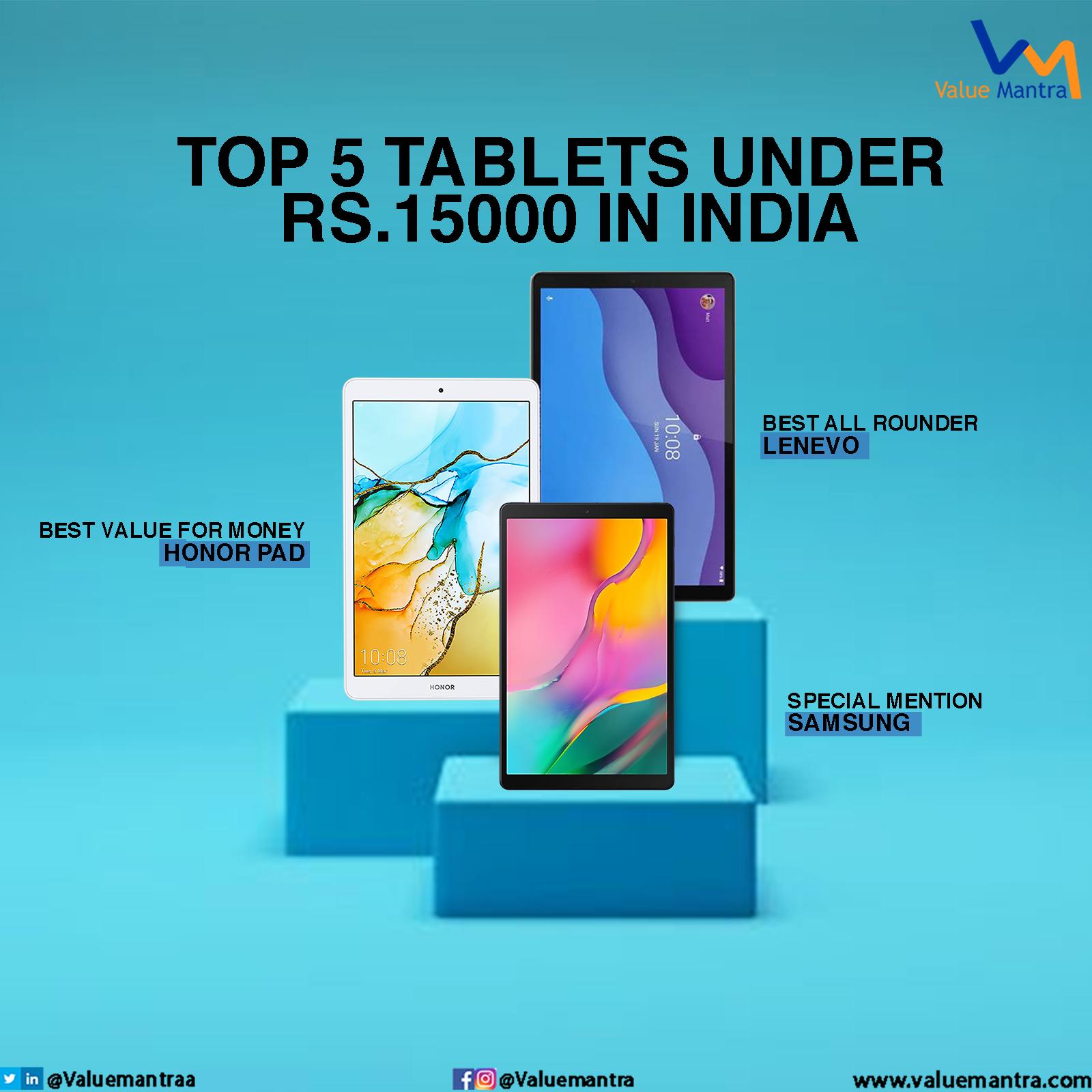 Best tablets under 15000 (2021)