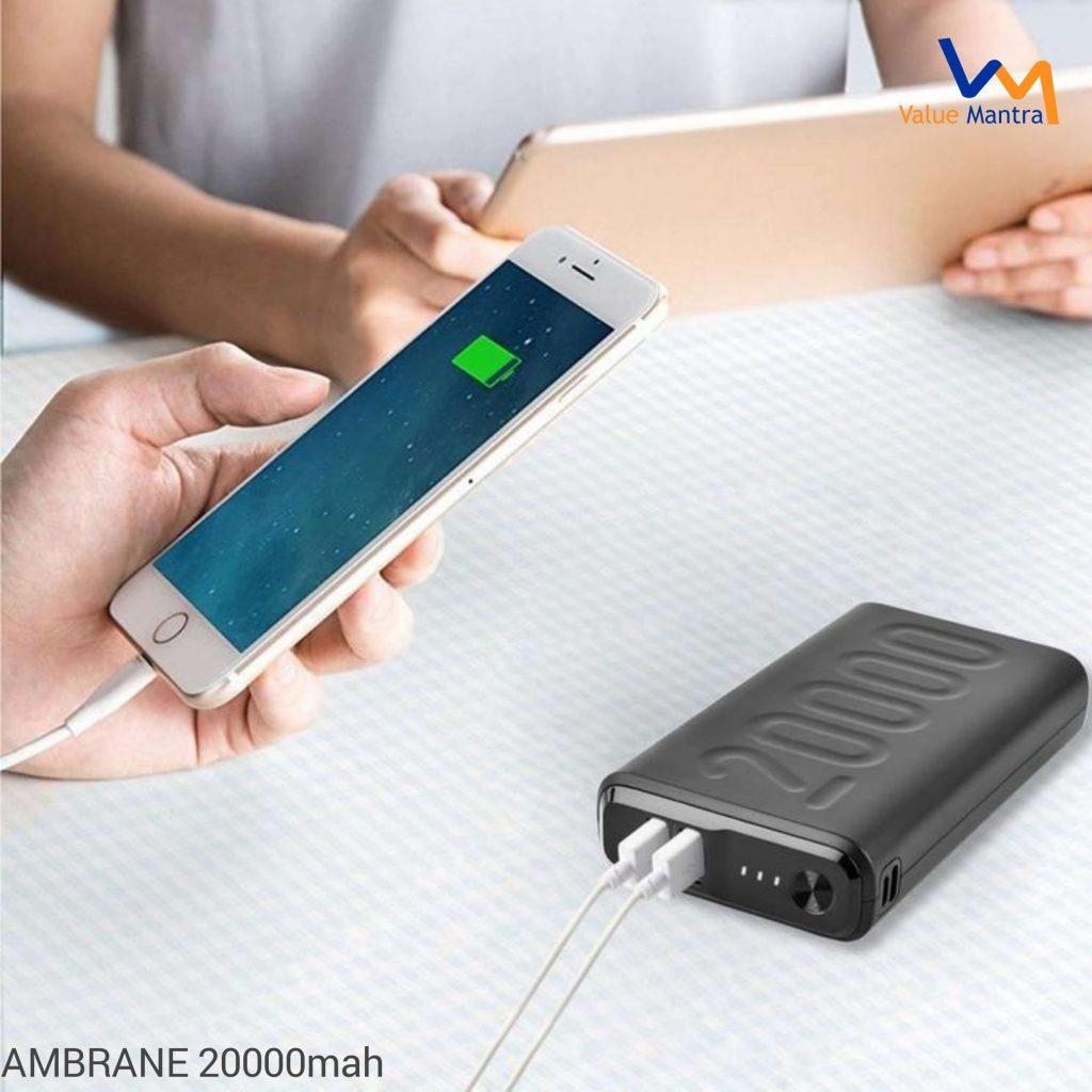Ambrane 20000MAH powerbank