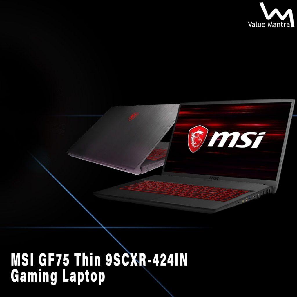 MSI GF75 gaming laptop