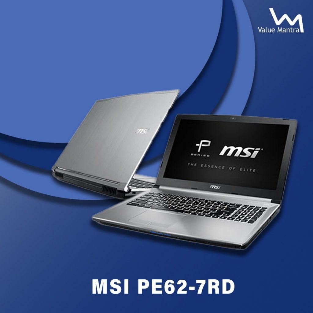 MSI PE62 gaming laptop